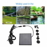 180L/H 1.2W Solar Power Panel Brunnen Wasserpump Tauchpumpe für Pool Gartenteich