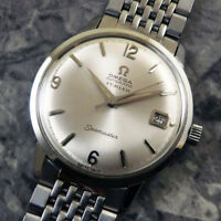 Omega Seamaster Mens Wrist Watch Silver Dial Date 1963