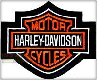TOPPA TERMOADESIVA PATCH HARLEY DAVIDSON RICAMATA LOGO CUSTOM BLACK NERO MOTO
