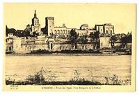 CPA 84 Vaucluse Avignon Palais des Papes Les Remparts