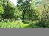 Ferienhaus direkt am Fluss Wasser See Ferienwohnung Wasserblick Angeln Baden