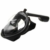 Swimming Diving Snorkeling Full Face Mask Surface Scuba for Gopro S/M Black B2M6
