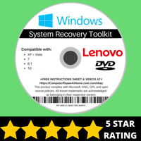 Lenovo Windows 10 8 8.1 7 Vista XP Recovery Repair Disc USB Reinstall Software