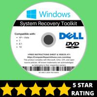 Dell Windows 10 8 8.1 7 Vista XP Recovery Repair Disc USB Reinstall Software DVD