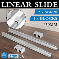 SBR20-650 20mm 2x Linear Guideway Rail Set CNC smooth sliding CNC Set Unique