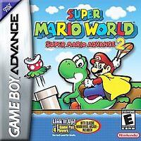 Super Mario World Super Mario Advance 2 Nintendo Game Boy Advance Cartridge Only