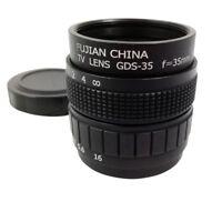 1X(Television TV Lens/CCTV Lens for C Mount Camera 35mm F1.7 in Black R7G2)