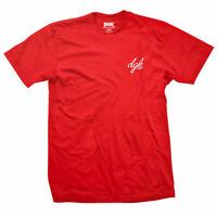 DGK Men's Script Mini Logo Short Sleeve T Shirt Red Skate Tee T-Shirt Clothing A