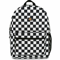 Dickies Unisex Student Backpack Bag Checkered Black School Travel Casual
