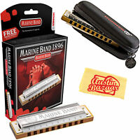 Hohner Marine Band 1896 Classic Harmonica - Key of C w/ Carrying Case