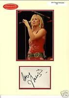 Natasha Bedingfield signed autograph display UACC AFTAL