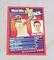 WEETBIX STAT ATTACK CRICKET CARD #7 - BRAD HODGE