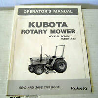 Kubota RCB60-IA(E) Mower Operator Maint Parts Manual