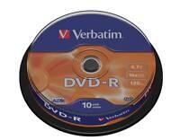 10 Verbatim Blank Recordable Discs DVD-R DVD DVDR 4.7GB