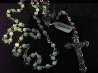 MOTHER PEARL ROSARY Beads Rosaries SILVER PLATED ROUND