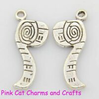 10 x Tibetan Silver TAPE MEASURE Charms Pendants Beads