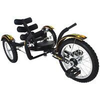 "New Mobito 16"" 3 WHEEL Tricycle RECUMBENT Bike for Kid Black"
