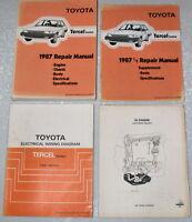 1987 TOYOTA TERCEL DX DLX SR4 Service Repair Manual & Electrical Wiring Diagram