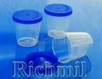 40x 40ml Plastic Specimen Sample Jar / Craft Container / Pot / Cup with Lid