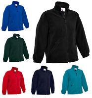 Boys & Girls Childrens Full Zip Classic Fleece Jackets Size 2 to 13 Years - 603
