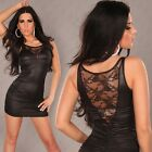 NEW SEXY LACE MINI DRESS SIZE 8-10 or 10-12 CLUB PARTY COLOURS: BLACK/GREY/KHAKI