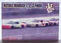 Hendrick 1-2-3 Finish 1997 Press Pass Actionvision Motion NASCAR Card #6