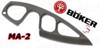 Boker Plus MA-2 Fixed Blade Knife w/ Sheath 02BO260 NEW