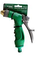 DELUXE ADJUSTABLE SPRAY GUN GARDEN HOSE WATERING SPRINKLER SPRAYER 612/DX