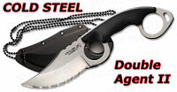 Cold Steel Double Agent II 2 Serrated w/ Sheath 39FNS
