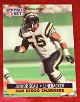 Junior Seau San Diego Chargers 1991 Pro Set Card #645