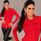NEW SEXY SOFT KNIT TURTLENECK SWEATER JUMPER SATIN BELT 6 8 10 PARTY/CLUB/CASUAL