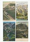 Lotto di 6 cartoline ferrovie Svizzere 1920-1940 a colori non viaggiate