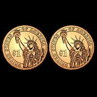 2012 P+D Chester A. Arthur Dollars ~ Random Positions ~ Coins from US Mint Roll
