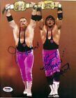Bret Hart & Jim Neidhart Signed WWF 8x10 Photo PSA/DNA COA w/ Tag Team Belts WWE