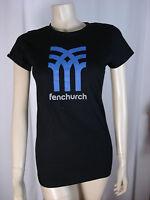 FENCHURCH LADIES BLACK ROUND NECK T SHIRT SIZE SMALL