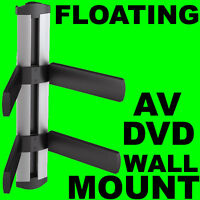 XBOX DVD SKY PS3 WII FLOATING WALL BRACKET MOUNT 2 SHELF CABLE CHANNEL  232