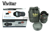 VIVITAR LENS 8mm F3.5 Lens for CANON T4i T3i T2i T3 650D 600D 550D 1100D 60D 7D