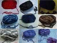 Thin Ruffle Scarf Yarn Knitting Wool Can Can Ruffles Fishnet Col & Qty at Choice