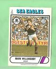 1976 SCANLENS RUGBY LEAGUE CARD #5 MARK WILLOUGHBY, MANLY SEA EAGLES