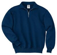Jerzees Men's Long Sleeve Double Needle Coverseamed Quarter Zip Sweater. 4528M