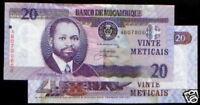 Mozambique note, P-NEW, (2006), 20 Meticais., UNC