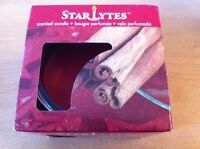 Star Lytes Cinnamon Sticks Scented Candle & Glass Holder - New & Boxed