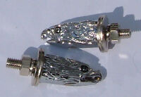 Eagle Nuts Chromed-Sold in Pair for-Motorcycles-Choppers-Curisers- Bikes-Trikes