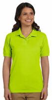 Gildan DryBlend Women's Two Button  Short Sleeve Pique Polo Sport Shirt. G948L