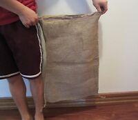 "5 NEW 17"" X 27"" BURLAP SACKS  GUNNY FEED BAGS TOW SACK PRODUCE JUTE  BAG"