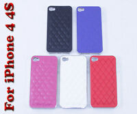Luxurious PU Leather Designer Case Cover For iPhone 4 4S 4G + Free Screen Guard
