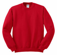 Jerzees Men's Casual Long Sleeve Rib Knit Fleece Crewneck Sweater. 562M