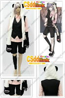 Un-Go Inga Brack Cosplay whole Costume + Hat with Paws + Tail