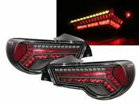 FT86 FT-86 GT86 FRS BRZ ALL LED Tail Rear Light BLACK for TOYOTA SCION SUBARU