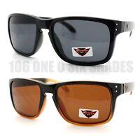 Mens Keyhole Sunglasses Skateboard Surfing Sports New Black Brown White